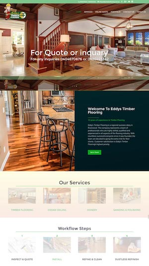 Eddys Timber Flooring website by hari karki creations