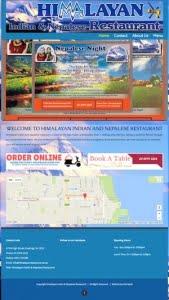 himalayan-restaurant hastings, victoria website design by hari karki creations
